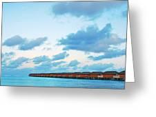 Maldives Resort Greeting Card