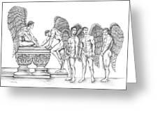 Male Angels Greeting Card