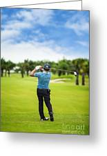 Male Golf Player  Greeting Card