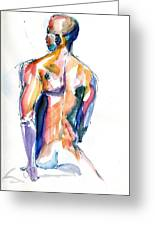 Male Nude Back Torso Greeting Card