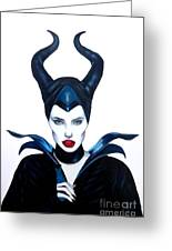 Maleficent Watercolor Greeting Card