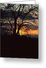 Malevolent Sunset Greeting Card