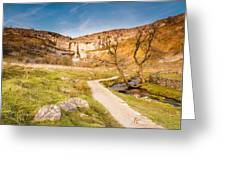 Malham Cove In Malhamdale Greeting Card