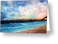 Malibu Pier Greeting Card by Pilar  Martinez-Byrne