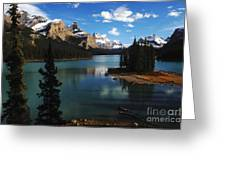 Maligne Lake Beauty Of The Canadian Rocky Mountains Greeting Card