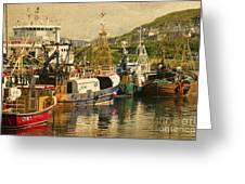 Mallaig Harbourside  Greeting Card