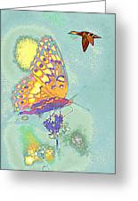 Mallard And Butterfly Greeting Card