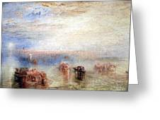 Turner's Approach To Venice Greeting Card