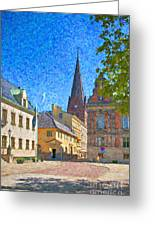 Malmo Stortorget Painting Greeting Card