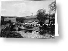 Malmsmead Bridge, C1900 Greeting Card