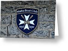 Malta Boat Club Greeting Card