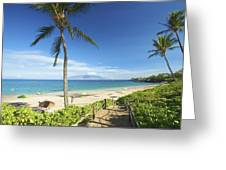 Maluaka Beach Park Greeting Card