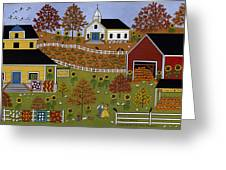 Mama's Quilts And Papa's Pumpkins Greeting Card