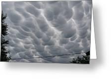 Mammatus Clouds Over Yorkton Greeting Card