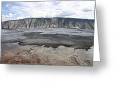 Mammoth Hot Spring Landscape Greeting Card