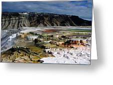Mammoth Hot Springs Greeting Card