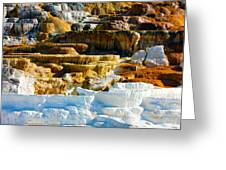 Mammoth Hot Springs Rock Formation No1 Greeting Card