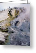 Mammoth Hot Springs Terrace Greeting Card