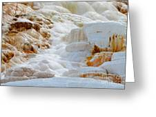 Mammoth Hot Springs Up Close Greeting Card