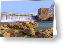 Mammoth Spring Dam And Hydroelectric Plant - Arkansas Greeting Card