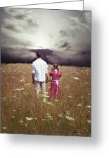 Man And Girl Greeting Card