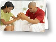 Man And Wife Pray Greeting Card