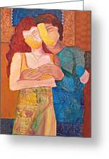 Man And Woman Greeting Card by Debi Starr