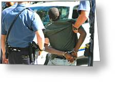Man Arrested. Greeting Card
