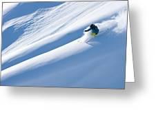 Man Big Mountain Skiing In The Chilkat Greeting Card