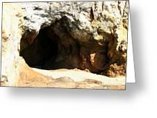 Shell Beach Man Cave Greeting Card