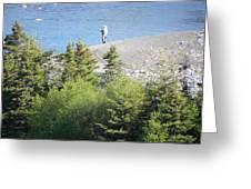 Man Fishing  Greeting Card