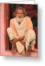 Man From India Greeting Card