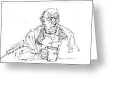 Man Having Coffee Greeting Card
