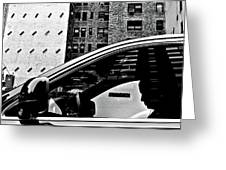 Man In Car - Scenes From A Big City Greeting Card