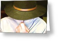 Man In Hat Greeting Card