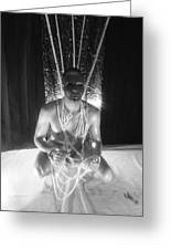 Man In Mask And Ropes Greeting Card