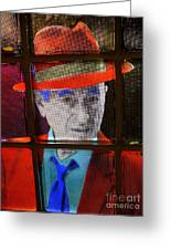 Man In Red Fedora Greeting Card