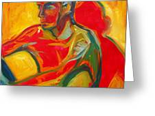 Man In Red Greeting Card