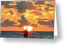Man In Sunrise Greeting Card