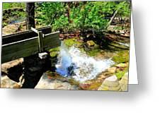Man Made Waterfall V2 Greeting Card