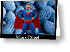 Man Of Steel Greeting Card by William Patrick
