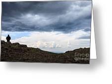 Man On Mountain Greeting Card