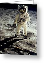 Man On The Moon Greeting Card
