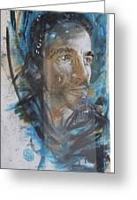 Man Portrait By C215 Greeting Card