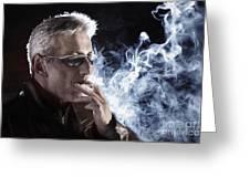 Man Smoking Cigarette Greeting Card