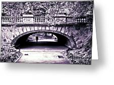 Man Under The Bridge Greeting Card