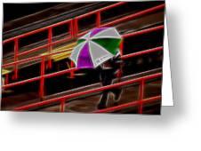 Man Under Umbrella Greeting Card