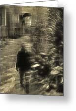 Man Walking Greeting Card