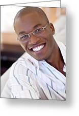 Man Wearing Glasses Greeting Card