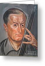 Man With Cello Greeting Card